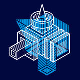 Abstract vector geometric form, 3D creative shape. Stock Image