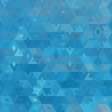 Abstract vector geometric ocean seamless background Royalty Free Stock Photo