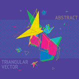 Abstract Vector in geometric polygonal style. Bright neon colors for impact Stock Photos