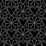 Abstract vector geometric seamless pattern. Black and white geom. Etrical background. Geometry shapes, figures, triangles, elements. Endless isolated texture royalty free illustration