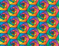 Abstract vector geometric seamless pattern of mosaic hexagons  in rainbow colors Stock Photos