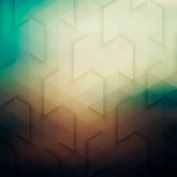 Abstract Vector Geometric Technological Background In Retro Colo Stock Photo