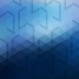 Abstract Vector Geometric Technological Blue Background Stock Photo