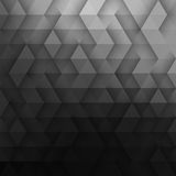 Abstract Vector Geometric Technological Dark Gray Background Stock Photo