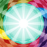 Abstract vector geometry background in different colors. Stock Photos