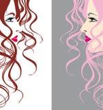 Abstract vector girl stock illustration