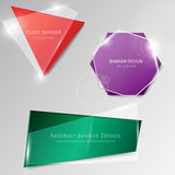 Abstract vector glass banner set Royalty Free Stock Images