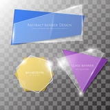Abstract vector glass banner set Stock Image