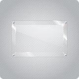 Abstract vector glass plane on halftone background Royalty Free Stock Images