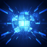 Abstract vector global technology background, illustration Stock Photo