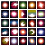 Abstract vector glow. 25 abstract  glow for background usage Stock Photography