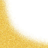 Abstract vector gold dust glitter background Stock Images