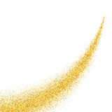 Abstract vector gold dust glitter background Royalty Free Stock Images