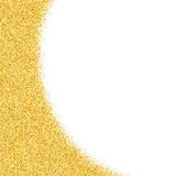 Abstract vector gold dust glitter star background Stock Photography