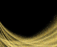 Abstract vector gold dust glitter star wave Royalty Free Stock Images