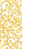 Abstract vector gold dust glitter swirl pattern Royalty Free Stock Photography