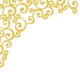 Abstract vector gold dust glitter swirl pattern Stock Photo