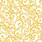 Abstract vector gold dust glitter swirl seamless Royalty Free Stock Photos