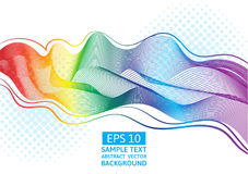 Abstract vector great rainbow waves colorful gradient line Stock Photos