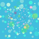 Abstract vector green background. Multicolored blurred Lights with bokeh effect. Picture looks like soap bubbles. Stock Photos