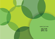 Abstract vector green bubbles background Stock Photo