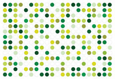 Abstract vector green circles background. Simple vector trendy background with green polka dots vector illustration