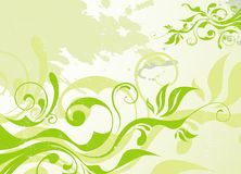 Abstract vector green summer background Stock Photography
