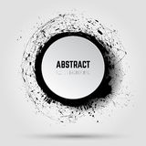 Abstract vector grunge background. Banner template. 3D abstract Stock Photos