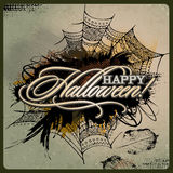 Abstract vector Halloween grunge design card Stock Images