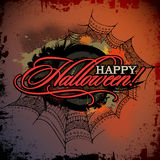 Abstract vector Halloween grunge design card Royalty Free Stock Image