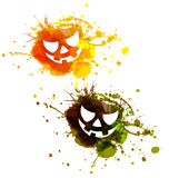 Abstract vector Halloween spots Stock Photography