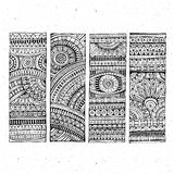 Abstract vector hand drawn ethnic banners Stock Image