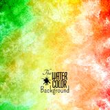 Abstract vector hand drawn rainbow color Royalty Free Stock Images
