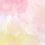 Abstract vector hand-drawn watercolor background Royalty Free Stock Photography