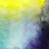 Abstract vector hand drawn watercolor background, stain watercol Royalty Free Stock Photography