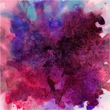 Abstract vector hand drawn watercolor Royalty Free Stock Image