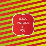 Abstract vector happy birthday background. Happy birthday background for any use Royalty Free Stock Photo