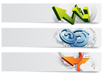 Abstract vector headers Stock Images