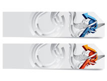 Abstract vector headers Royalty Free Stock Photo
