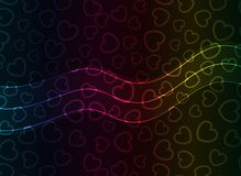 Abstract Vector Heart Background. Transparent Lights. EPS10 Royalty Free Stock Photo