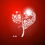 Abstract Vector Heart-Shaped Tree Royalty Free Stock Photography
