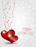 Abstract  Vector Heart for Valentines Day Backgrou Stock Photos