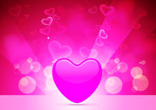 Abstract  Vector Heart for Valentines Day Backgrou. Design Template - Vector Heart for Valentines Day Background Royalty Free Stock Photo