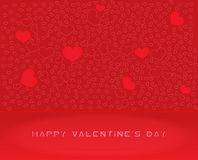 Abstract  Vector Heart for Valentines Day Backgrou Stock Images