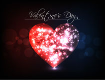 Abstract  Vector Heart for Valentines Day Backgrou Stock Photo