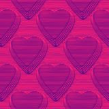 Abstract vector hearts seamless moire pattern with lines. Abstract vector hearts seamless moire pattern with lines stock illustration