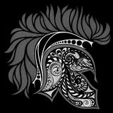 Abstract vector helmet of Achilles. On a black background Royalty Free Stock Photography