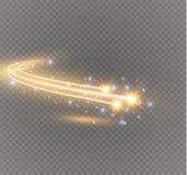 Abstract vector het gloeien magisch ster lichteffect van het neononduidelijke beeld van gebogen lijnen Royalty-vrije Stock Fotografie