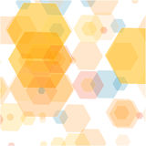 Abstract vector hexagonal background design royalty free illustration