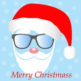 Abstract vector hipster-santa silhouette. Stock Image